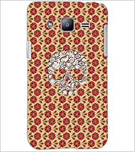 PrintDhaba Skull D-4358 Back Case Cover for SAMSUNG GALAXY J2 (Multi-Coloured)