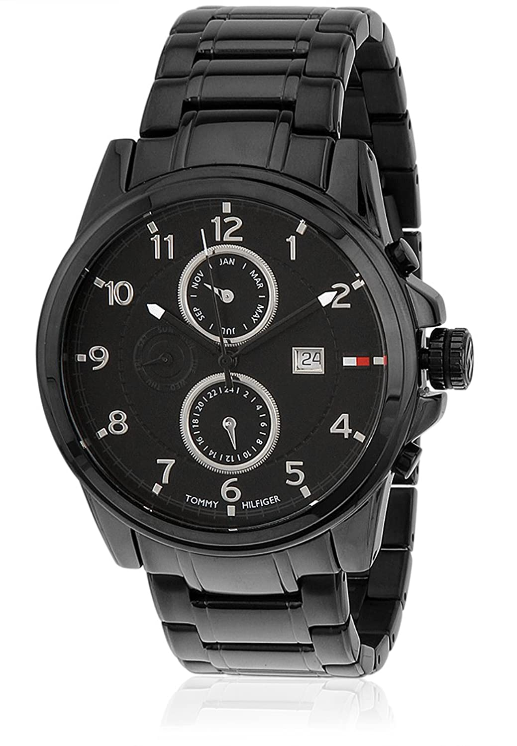 buy tommy hilfiger analog black dial men s watch th1790961j buy tommy hilfiger analog black dial men s watch th1790961j online at low prices in amazon in