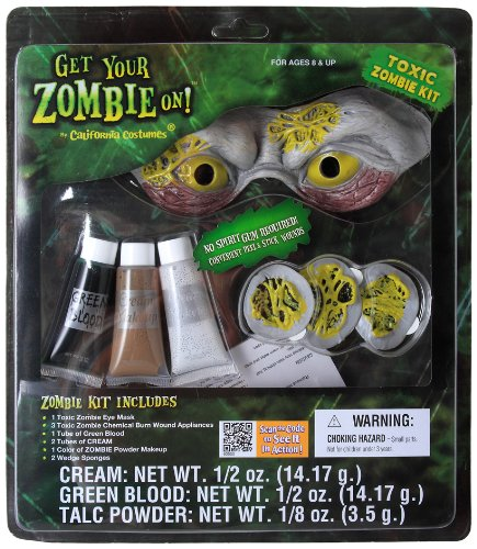California Costumes Men's Toxic Zombie Kit, Green, One Size - 1