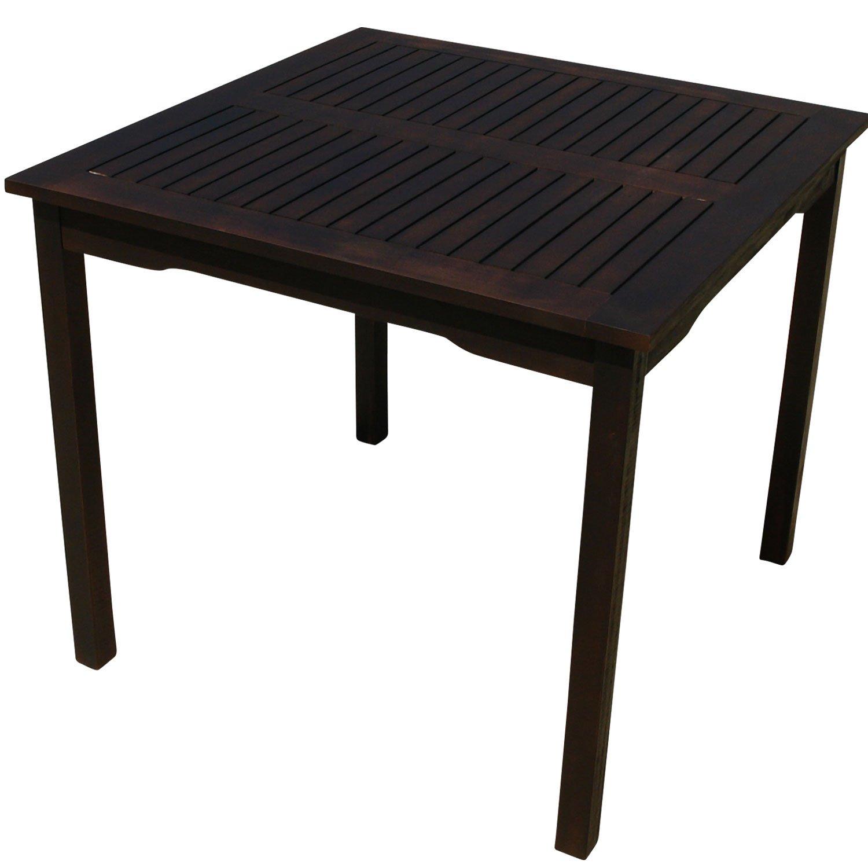 indoba® IND-70071-TI – Serie Provence – Gartentisch aus Holz FSC zertifiziert – quadratisch kaufen
