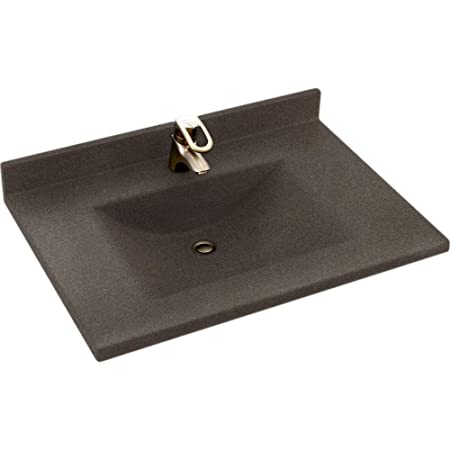 Swanstone CV2237-094 Contour 37-Inch Solid Surface Vanity Top with Sierra Basin