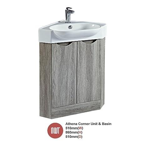 """""""Athena"""" Avola Floor Standing Unit & Offset Basin (Twin Door) - 510mm(w) x 860mm(h) x 510mm (d)"""