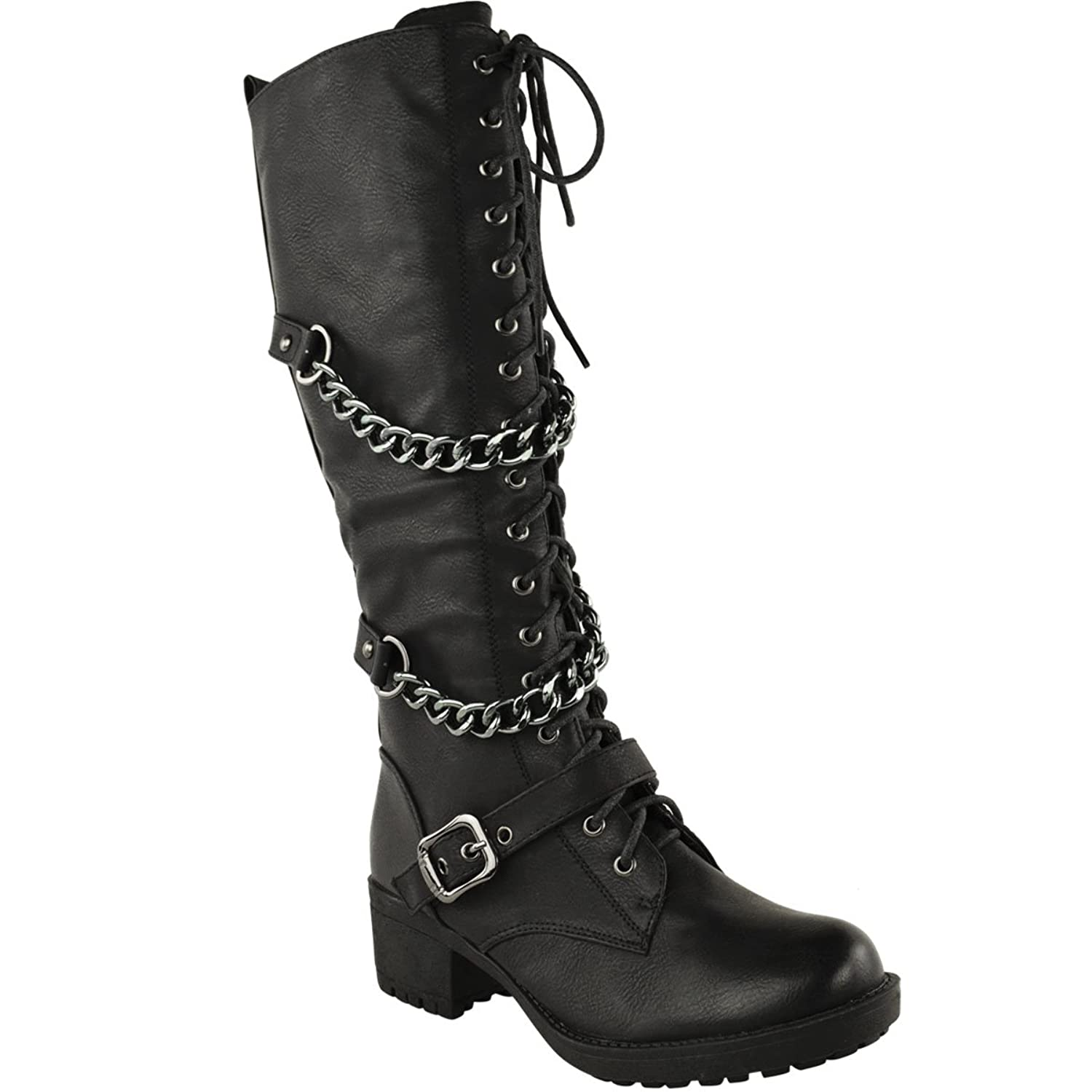 Womens Size 12 Black Knee High Boots 63