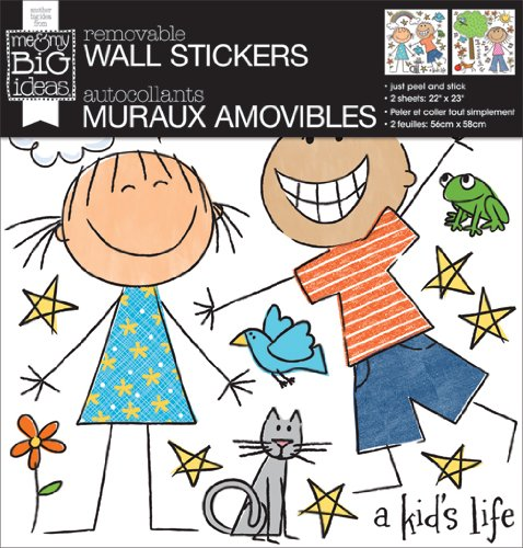 me & my BIG ideas Removable Wall Sticker, A Kid'S Life