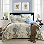 GOOFUN-D1Q 3pcs Duvet Cover Set(1 Duvet Cover + 2 Pillow Shams) Lightweight Polyester microfiber Well Designed Print Pattern - Comfortable, Breathable, Soft & Extremely Durable, Full Queen Size