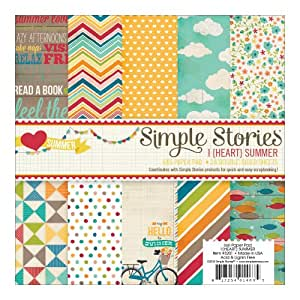"I Heart Summer Paper Pad 6""X6"" 24/Sheets-Double-Sided"