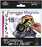 Compact Art Kits-Engraving Art Magnets-Sports & Motors-Holographic