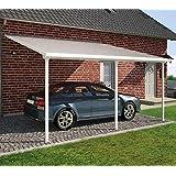 Hochwertige Aluminium Terrassenüberdachung, Terrassendach 400x606 cm (TxB) - Weiß