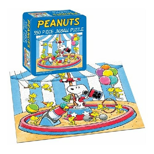 Cheap Fun USAopoly Peanuts Ring Master 550 Piece Jigsaw Puzzle (B000BXM8CO)