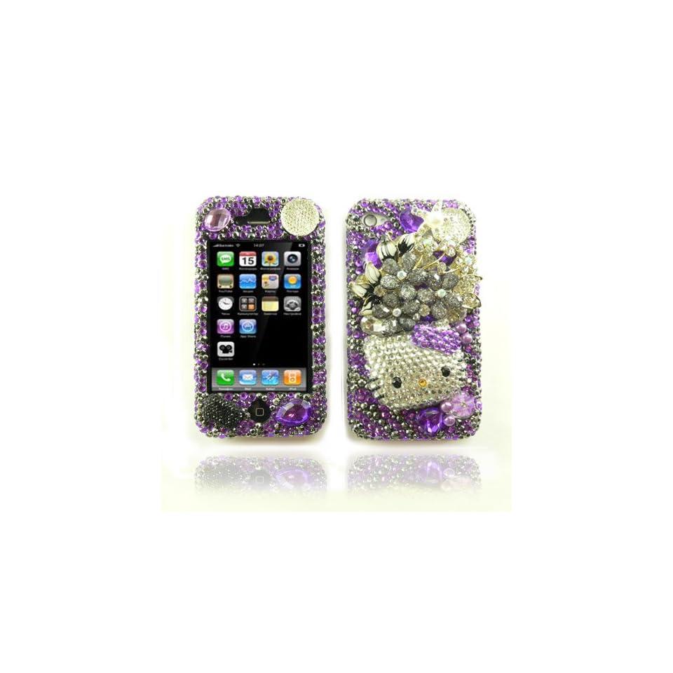 3D Custom Swarovski Hello Kitty Crystal Bling Case Cover for Apple