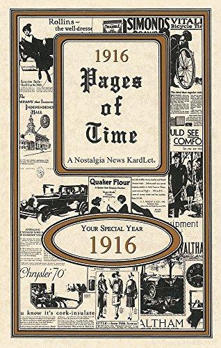Seek Publishing 1916 Pages of Time Kardlet (PT1916)