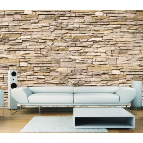 Fototapete VLIES SUPERIOR 400x280cm ASIAN STONE WALL by liwwing (R ...