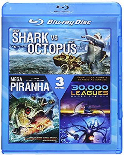 Mega Shark vs. Giant Octopus / Mega Piranha / 30,000 Leagues Under the Sea [Blu-ray]