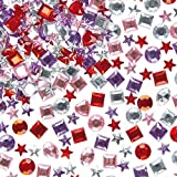 Self-Adhesive Acrylic Jewels Assorted Designs & Colours Embellishments for Children's Crafts (Pack of 200)