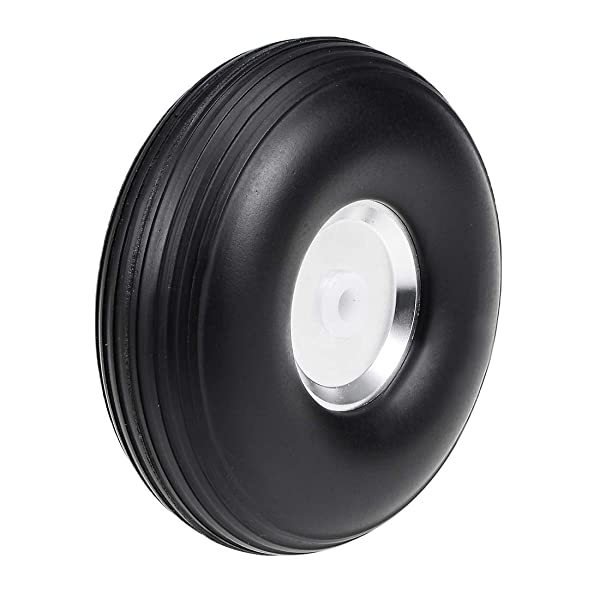 uxcell Tire and Wheel Sets for RC Car Airplane,PU Sponge Tire with Aluminum Alloy Hub,2.5 inches (Tamaño: 2.5 Aluminum Hub)