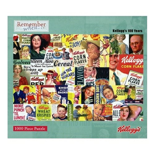 Pressman Kellogg's 100 years 1000 Piece Jigsaw Puzzle