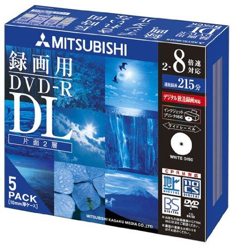 三菱化学メディア DVD-R VHR21HDSP5 5枚