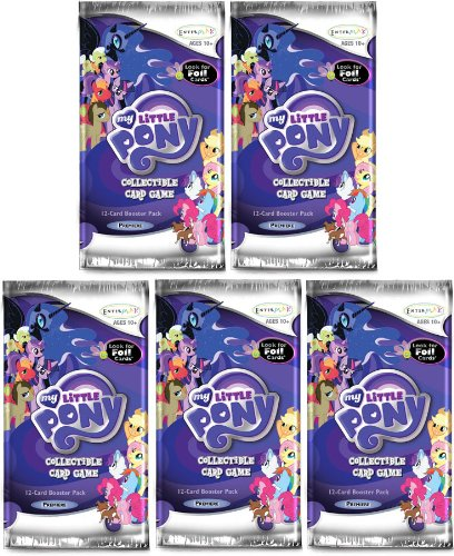 My Little Pony Enterplay Collectible Card Game Lot of 5 Booster Packs - 1