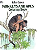 Monkeys and Apes Coloring Book (Dover Pictorial Archives) (0486257983) by Green, John