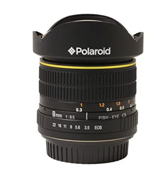 Polaroid Studio Series Ultra Wide Angle 8mm f/3.5 Circular Fisheye Lens For The Canon Digital EOS Rebel T3 (1100D), T3i (600D), T1i (500D), T2i (550D)