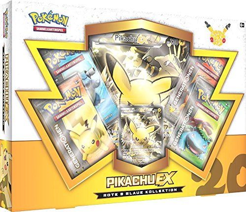 Pokemon 25886 - PKM Red and Blue Pikachu EX Collection Box