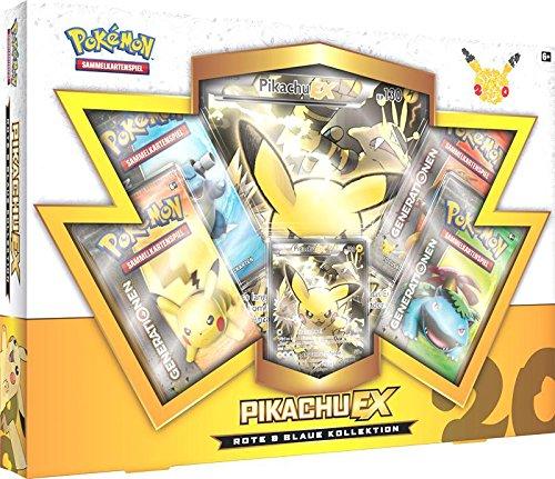 Pokemon 25886–Gioco di carte Pokemon rosso e blu, collezione Pikachu-EX