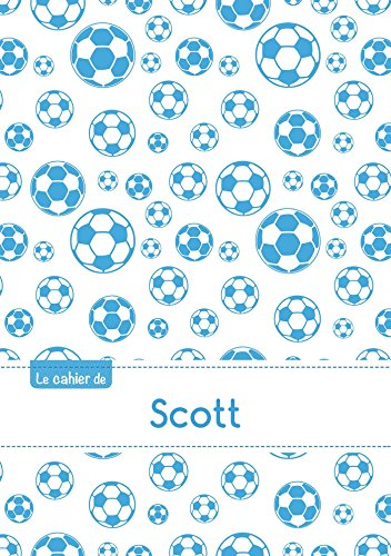 CAHIER SCOTT BLANC,96P,A5 FOOTBALLMARSEILLE (Enfant)