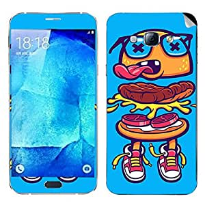 Theskinmantra Burger man Samsung Galaxy A8 mobile skin