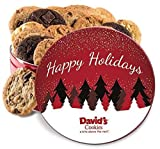 David's Cookies Fresh baked cookies Gift Tins (Holiday Assorted Flavors, 2 lbs (24 -1.5oz cookies))