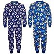 Chelsea FC Official Football Gift Boys Kids Pyjama Onesie Blue 9-10 Years