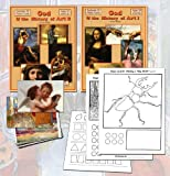img - for God & The History of Art Volumes I & II Set (includes 35 Paint Cards and 36 Postcards) book / textbook / text book