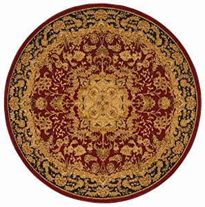 Shaw Living Antiquities 7-Foot 4-Inch Round Rug in Meshed Pattern, Brick