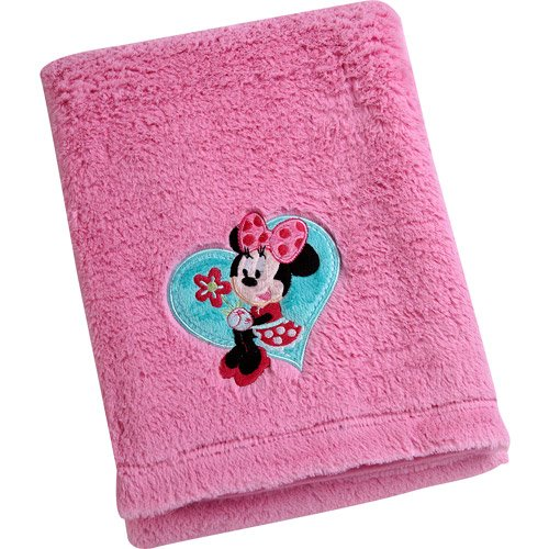 Disney Baby Minnie Mouse Cuddle Plush Blanket Disney Baby Bedding