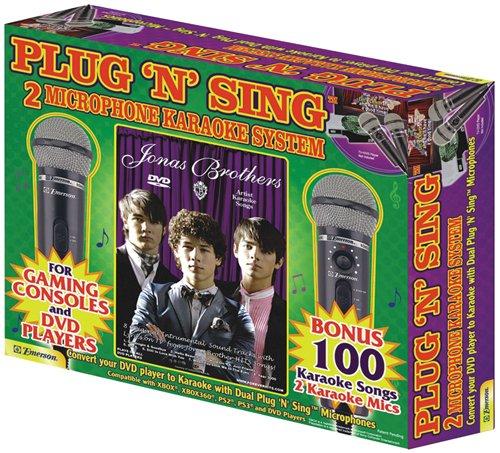 Plug N Sing Dvd Dual Plug 'N' Sing Microphone Karaoke System With Original Jonas Brothers Karaoke On Dvd