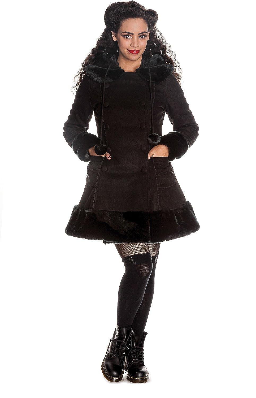 Hell Bunny Schwarz Sarah Jane Coat kaufen