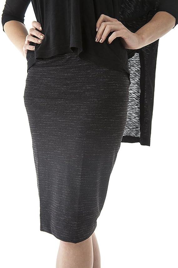 Hard Tail supplex striped pencil skirt