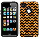 Otterbox Commuter Chevron Zig Zag Orange & Black Case for Apple iPhone 4