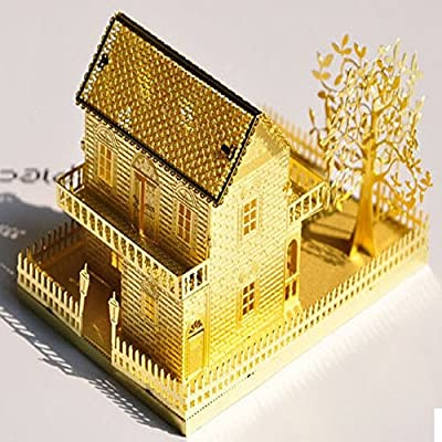 Hot Sell Small Villa Manual DIY Hut Assembled Metal Building Model