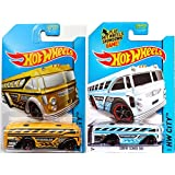 BUS * SET Of Hot Wheels HW City Works 2014 #03 Variants SURFIN SCHOOL BUS IN PROTECTIVE CASES