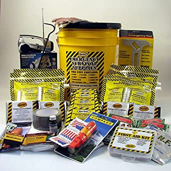 Deluxe Emergency Kit w/ Honey Bucket - 4 Person - KEX4P