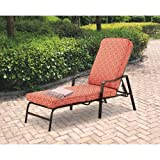 Mainstays Chaise Lounge, Orange Geo Pattern