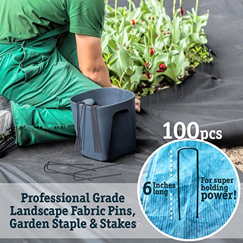 100 6 Inch Garden Landscape Staples Stakes Pins Made