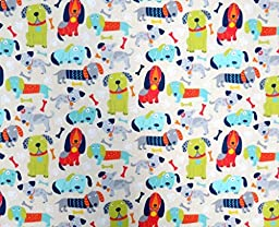 SheetWorld Fitted Pack N Play (Graco) Sheet - Doggies - Made In USA