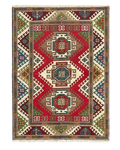 Hand-Knotted Royal Kazak Wool Rug, Red, 5' 8 x 7' 10