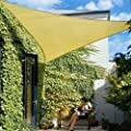 SUN Shade Sail 5x5x5m 16.5' Triangle Shading Canopy Sand Color from Titan Global Trading. LLC