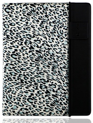 Splash SPL-IPD3-RDRP-CTBLK Raindrop Leather Case iPad 2 and 3 with stylus (Leopard)