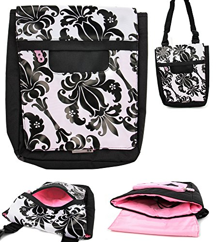 duragadget-exclusive-black-and-white-lily-print-shoulder-bag-in-satchel-style-compatible-with-the-bl