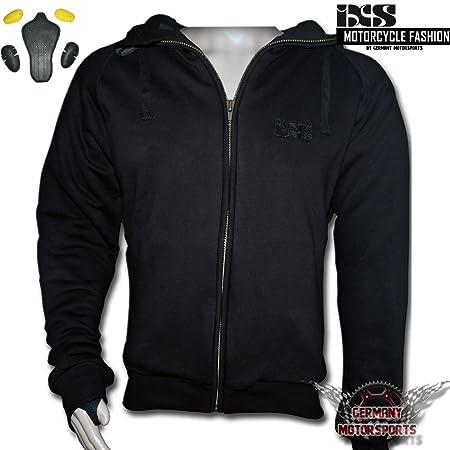 IXS Pacer Veste de moto moto Hoodie Veste à capuche noir Textile M L XL 2x L 3x l