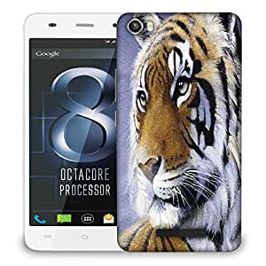 Snoogg Face Of The Tiger Designer Protective Phone Back Case Cover For LAVA IRIS X8