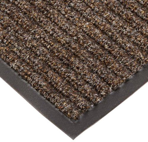 "Notrax T39 Bristol Ridge Scraper Carpet Mat, For Wet And Dry Areas, 3' Width X 10' Length X 3/8"" Thickness, Coffee front-540114"